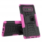 Shockproof Hybrid Dual Layer Protective Stand Case for Samsung Galaxy Note 8 - Hot Pink