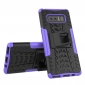 Shockproof Hybrid Dual Layer Protective Stand Case for Samsung Galaxy Note 8 - Purple