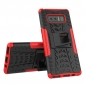 Shockproof Hybrid Dual Layer Protective Stand Case for Samsung Galaxy Note 8 - Red