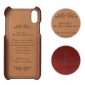 Fashion Oil-wax Leather Back Cover Case with Card Pocket for iPhone X - Brown