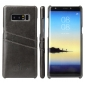 For Samsung Galaxy Note 8 Leather Wax Oil Pattern Card Slot Back Cover Case - Black