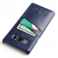 For Samsung Galaxy Note 8 Leather Wax Oil Pattern Card Slot Back Cover Case - Dark Blue