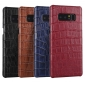 Luxury Crocodile Real Cow Genuine Leather Case Cover For Samsung Galaxy Note 8 - Navy Blue