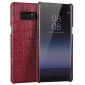 Luxury Crocodile Real Cow Genuine Leather Case Cover For Samsung Galaxy Note 8 - Red
