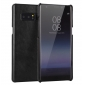 Ultra Slim Genuine Cow Leather Back Cover Shell Case For Samsung Galaxy Note 8 - Black