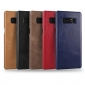 Ultra Slim Genuine Cow Leather Back Cover Shell Case For Samsung Galaxy Note 8 - Navy Blue