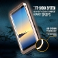 Aluminum Metal Bumper Soft Rubber Shockproof Hard Case For Samsung Galaxy Note 8 - Gold