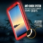 Aluminum Metal Bumper Soft Rubber Shockproof Hard Case For Samsung Galaxy Note 8 - Red