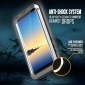 Aluminum Metal Bumper Soft Rubber Shockproof Hard Case For Samsung Galaxy Note 8 - Silver