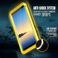 Aluminum Metal Bumper Soft Rubber Shockproof Hard Case For Samsung Galaxy Note 8 - Yellow