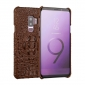 Luxury Crocodile Genuine Leather Case Cover For Samsung Galaxy S9 - Brown