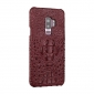 Luxury Crocodile Genuine Leather Case Cover For Samsung Galaxy S9 - Wine Red