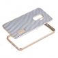 Aluminum Metal Bumper Carbon Fiber Cover Stand Case For Samsung Galaxy S9 - Gold&Silver