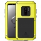 Aluminum Metal Shockproof Cover Case for Samsung Galaxy S9 Plus - Yellow