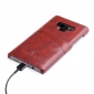 Oil Wax Card Slots Back Leather Case Cover For Samsung Galaxy Note 9 - Brown