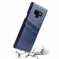 Oil Wax Card Slots Back Leather Case Cover For Samsung Galaxy Note 9 - Dark Blue