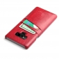 Oil Wax Card Slots Back Leather Case Cover For Samsung Galaxy Note 9 - Red