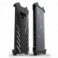 R-Just Aluminum Alloy Back Case for Samsung Galaxy Note 9 - Black - Black