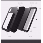 For iPhone XS Max Metal Bumper Gorilla Glass Waterproof Case Cover - Silver
