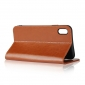 Crazy Horse Pattern Genuine Leather Case for iPhone XS Max - Brown