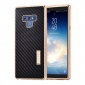 For Samsung Galaxy Note 9 Carbon Fiber Shockproof Metal Aluminum Case Cover