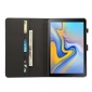 For Samsung Galaxy Tab S4 10.5 T830/T835 Crazy Horse Pattern Stand Leather Case - Black