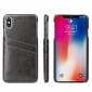 Oil Wax PU Leather Back Case Cover for iPhone XS Max