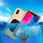 Shockproof Waterproof Protective Metal Case for iPhone XS - Gold