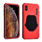 Shockproof Waterproof Protective Metal Case for iPhone XS - Red