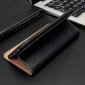 View Window Genuine Leather Stand Flip Case For iPhone XR - Black