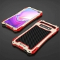R-JUST Aluminum Metal Carbon Fiber Case for Samsung Galaxy S10 - Red&Gold