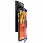 For Samsung Galaxy S10 Plus Aluminum Metal Tempered Glass Full Case  - Black&Blue
