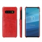 Wax Oil Leather Card Slot Case Cover For Samsung Galaxy S10e - Red