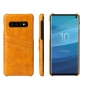 Wax Oil Leather Card Slot Case Cover For Samsung Galaxy S10e - Yellow