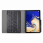 Wireless Bluetooth Aluminum Keyboard Leather Case for Samsung Galaxy Tab S5e 10.5 inch (SM-T720 / SM-T725) - Black