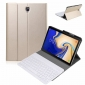 Wireless Bluetooth Aluminum Keyboard Leather Case for Samsung Galaxy Tab S5e 10.5 inch (SM-T720 / SM-T725) - Gold