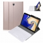 Wireless Bluetooth Aluminum Keyboard Leather Case for Samsung Galaxy Tab S5e 10.5 inch (SM-T720 / SM-T725) - Rose Gold