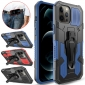 For iPhone 12 Shockproof TPU Belt Clip Kickstand Phone Cover