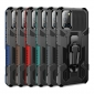 For Samsung Galaxy S20 FE 5G UW S21+ S21 Ultra A51 Armor Stand Case Cover With Belt Clip
