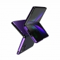 For Samsung Galaxy Z Fold 3 5G Leather Case View Stand Flip Cover