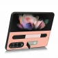 For Samsung Galaxy Z Fold 3 Genuine Leather Case with Kickstand & S Pen Holder