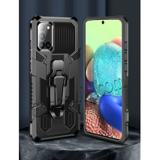 on sale For Motorola One 5G Ace Case Shockproof Stand Cover With Belt Clip