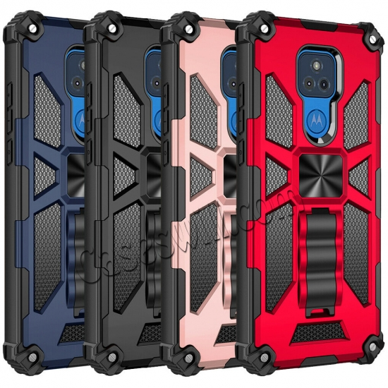 wholesale For Motorola Moto G Stylus Power 2021 Case Rugged Armor Magnetic Stand Cover