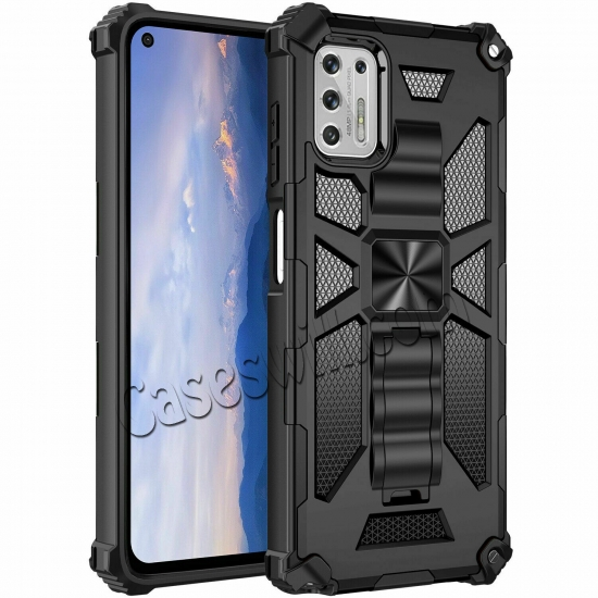 top quality For Motorola One 5G Ace Case Shockproof Magnetic Armor Kickstand Cover