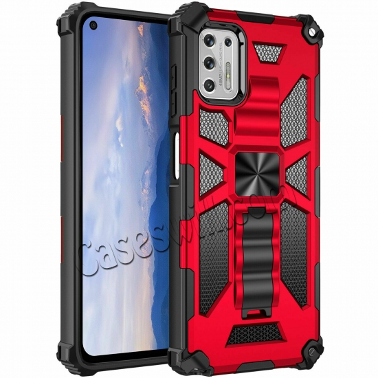 best price For Motorola One 5G Ace Case Shockproof Magnetic Armor Kickstand Cover