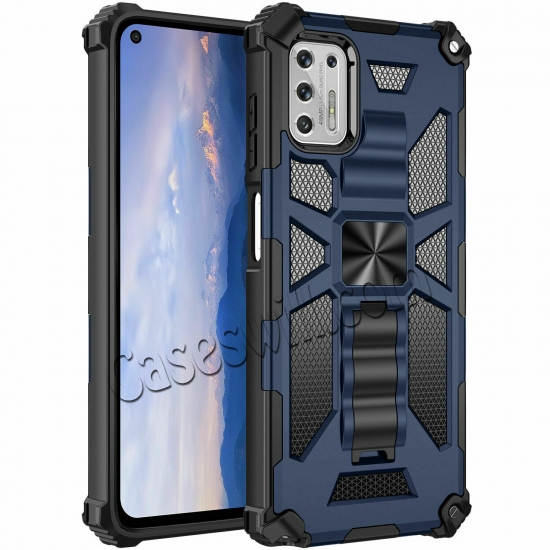 on sale For Motorola One 5G Ace Case Shockproof Magnetic Armor Kickstand Cover