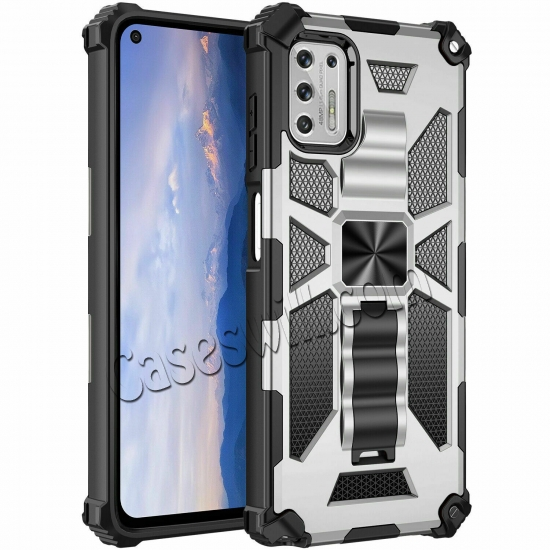 high quanlity For Motorola One 5G Ace Case Shockproof Magnetic Armor Kickstand Cover