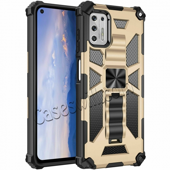 low price For Motorola One 5G Ace Case Shockproof Magnetic Armor Kickstand Cover