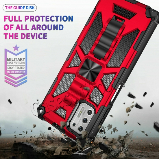 china wholesale For Motorola One 5G Ace Case Shockproof Magnetic Armor Kickstand Cover