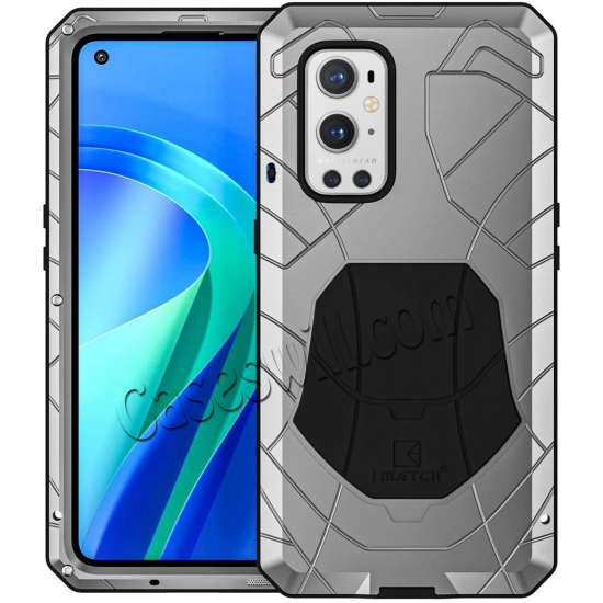 cheap Case for Oneplus 9 Pro, Oneplus 9 Pro Rugged Metal Aluminum Armor Heavy Duty Bumper Cover
